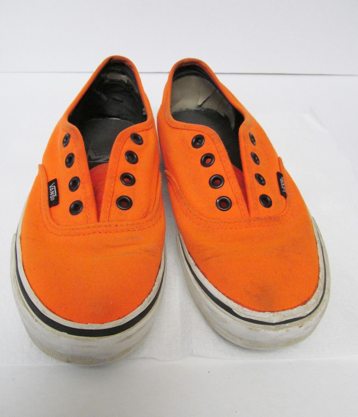 Vans Off the Wall Distressed Athletic Sneakers orange Canvas Men's US 6.0 VTG