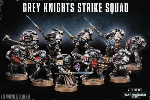 Grey Knights Strike Squad Games Workshop 10 minis Warhammer 40.000 GW 40k 57-08