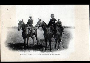 MILITAIRES-General-NEGRIER-amp-General-LANES-aux-MANOEUVRES-de-l-039-EST-en-1901