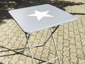 table Jimmy avec étoile, en métal pliable, BALCON & de jardin gris ...