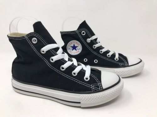 Youth Converse Chuck Taylor All Star Hi-Top Sneakers Black N39 New w//defect