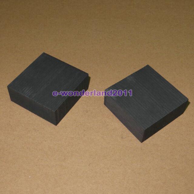 2 pcs High Purity 99.9% Graphite Ingot Block  50mm * 50mm * 20mm Free Shipping