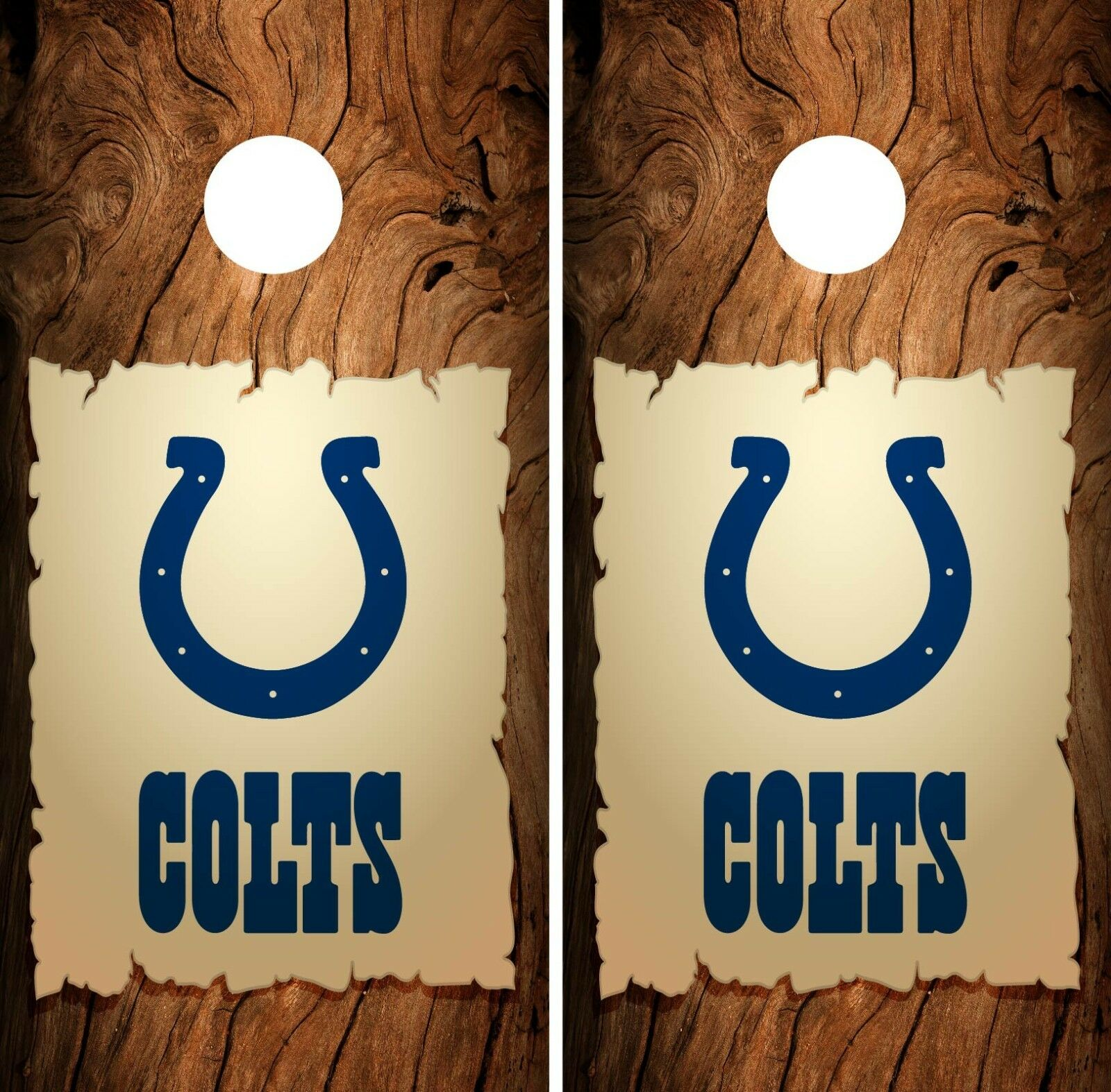 Indianapolis  Colts Cornhole Wrap NFL Wood Game Skin Board Set Vinyl Art CO124  for wholesale