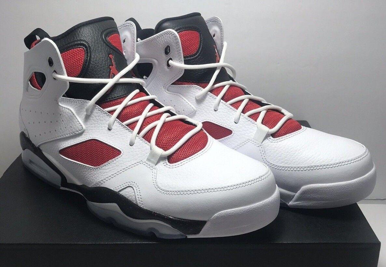 Nike Mens Size 12.5 Air Jordan Flight Club 91 White Basketball shoes 555475 121