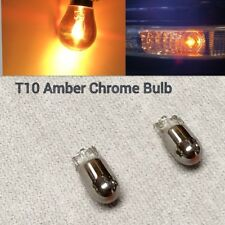 T10 501 W5W Bulb Chrome Amber Indicator side repeater 2 flasher silver diadem