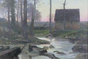 Arthur-Ford-1857-1916-Landscape-Oil-Canvas-Luigi-Loir-Rochefort-Poitiers