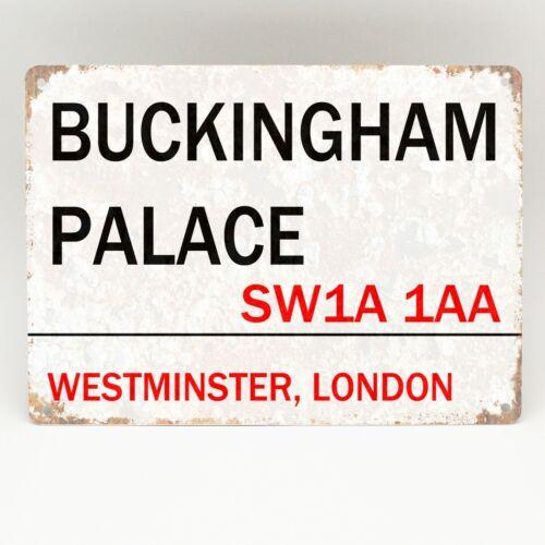 Palacio de Buckingham Londres Calle Letrero de Metal Placa Reina de carretera real Decoración del hogar