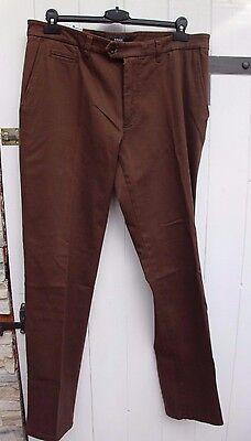 Pantaloni-jeans-brax-mod. Elton Mis. 54-w 38 L 34 Marrone Merce Nuova-mostra Il Titolo Originale