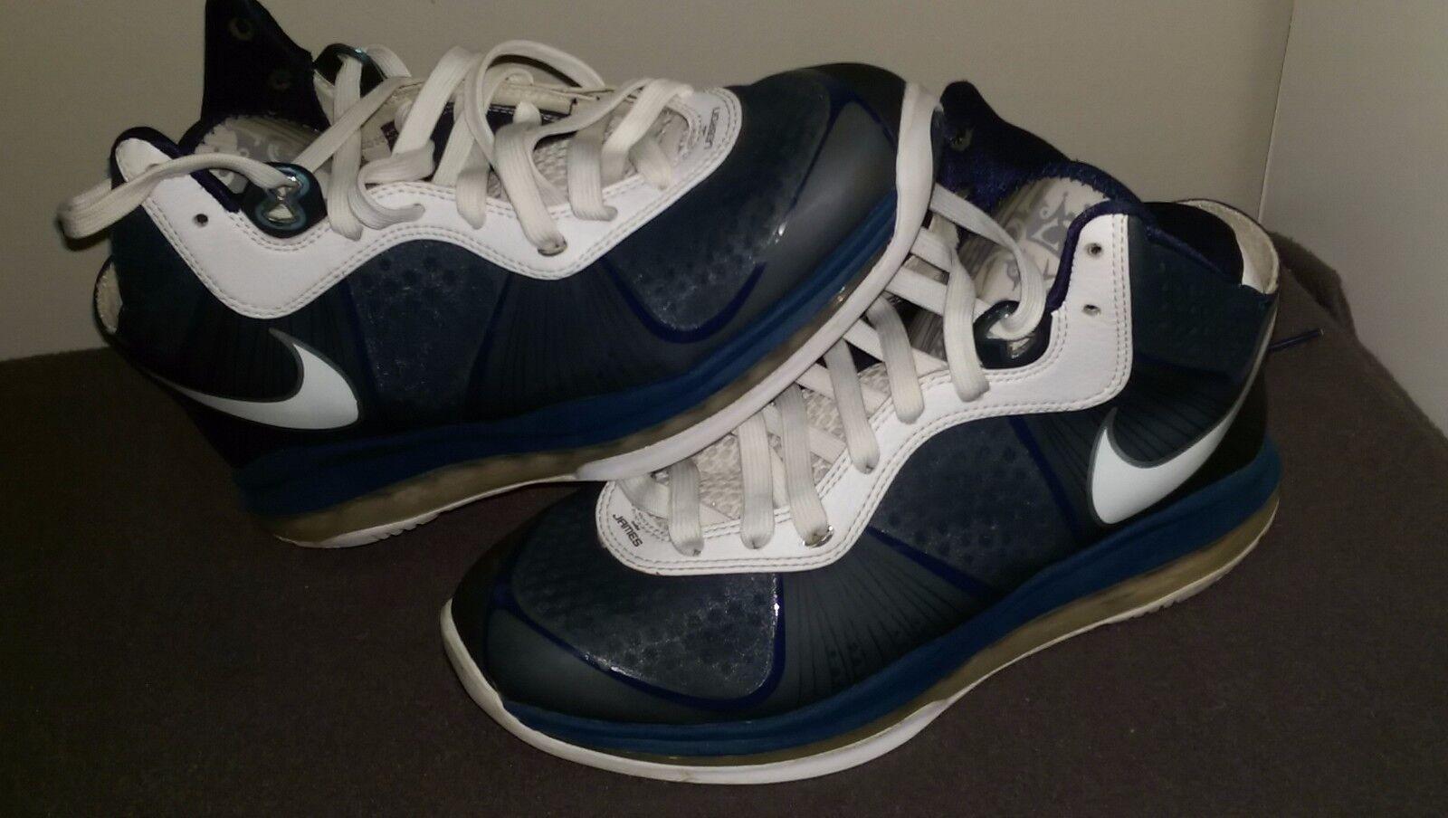 Nike Lebron VIII 8 V/2 Midnight Navy/Silver New York Yankees 429676-400 Size 8