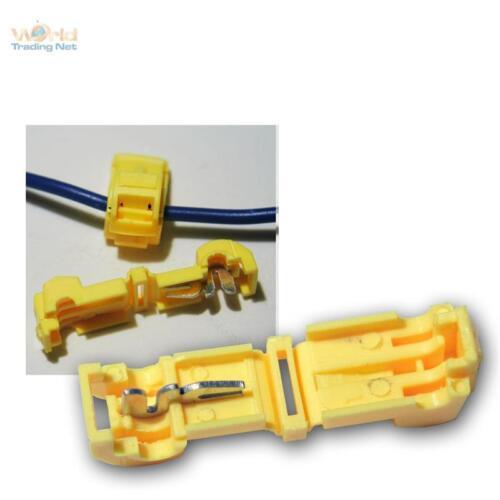 20 connettore rapido per cavi SCARPE GIALLO 4,0-6,0mm² elettricità ladri connettori di bloccaggio