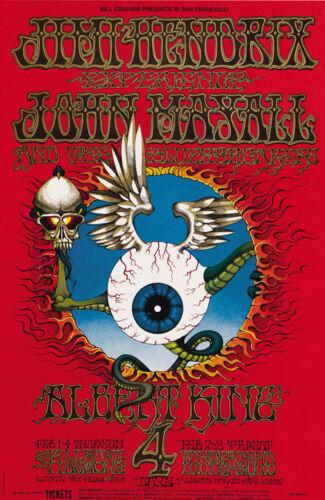 "Jimi Hendrix Experience Flying Eyeball Fillmore Winterland 13 x 19/"" Photo Print"