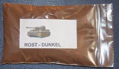 Beliebte Marke Pigmente Farbe Rost-dunkel Alterung Weathering-powder Eisenbahn Panzer 50 Gr Modellbau Wohltuend FüR Das Sperma