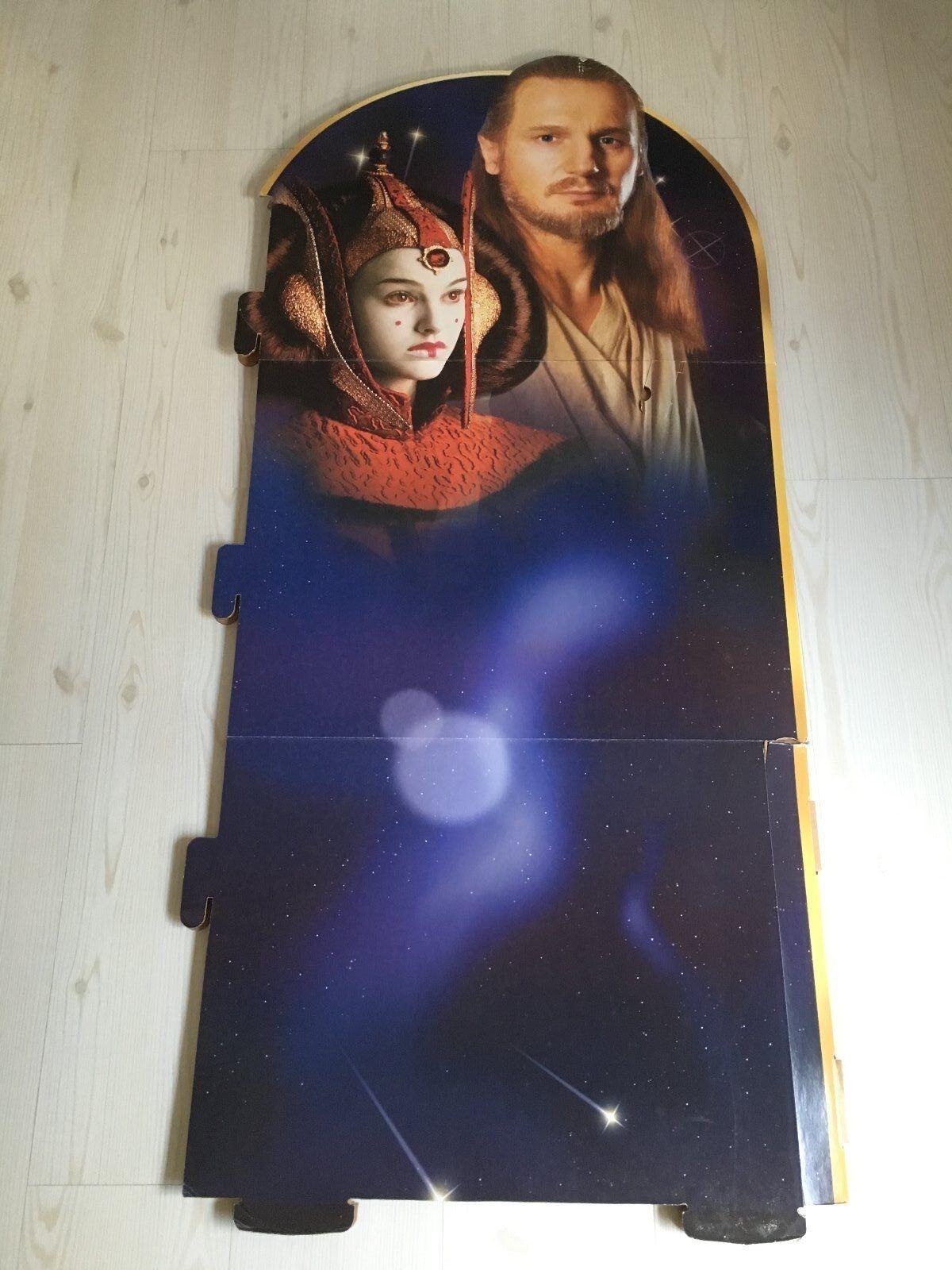 descuento de ventas en línea Pantalla Gigante De Estrella Wars Episodio I Reina Reina Reina Amidala & Qui Gon Yinn 53  X 24     Raro     ventas en linea