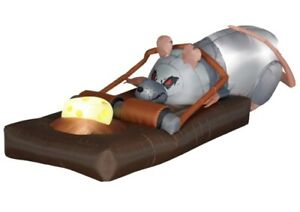 Gemmy-Airblown-Animated-Inflatable-Rat-In-Trap-Halloween-Decoration-Rare