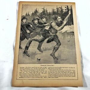 Authentic-Antique-Chatterbox-Magazine-Engraving-On-Paper-1880-1920-s-Old-A