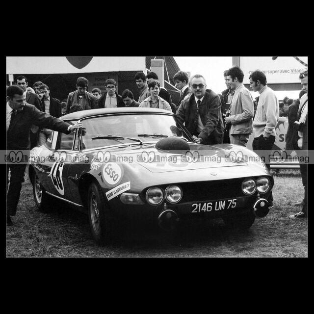 #pha.017453 Photo FIAT DINO SPIDER MARTIN-MESSANGE 24 HEURES DU MANS 1968 Auto