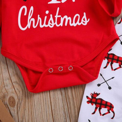 Pants Outfits Newborn Infant Baby Girl Boy Christmas Clothes Jumpsuit Romper