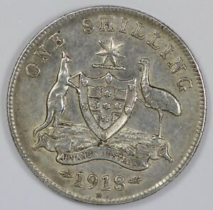 Australia-1918-Shilling-about-Extremely-Fine-but-cleaned