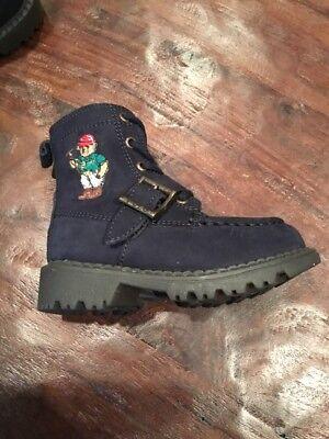 Polo Ralph Lauren Ranger Mallet Bear Boots New Blue Toddlers Size 4