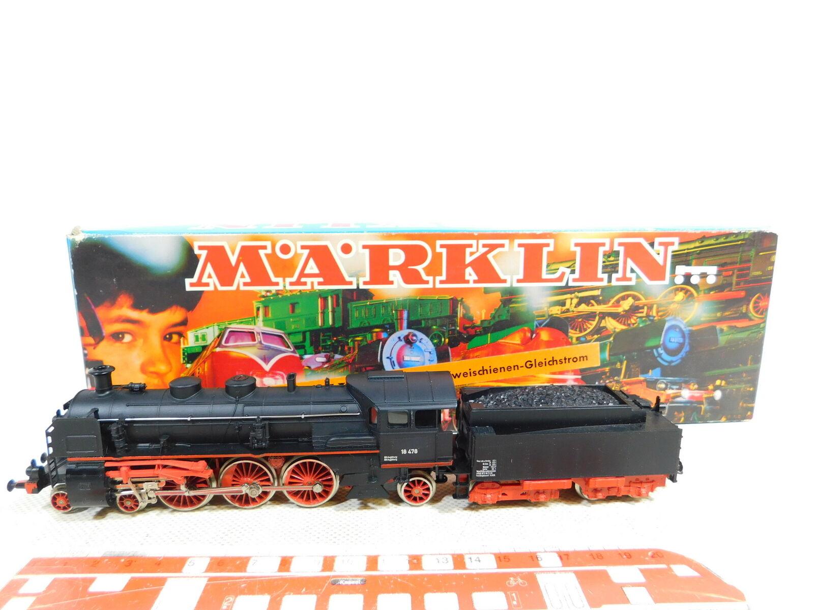 BX82-1  Märklin Hamo H0 DC 8391 Dampflok Dampflokomotive 18 478, OVP