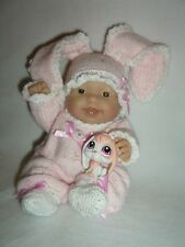 """5"""", 8"""", 10"""" Berenguer doll's outfit knitting PATTERN Pink Bunny"""