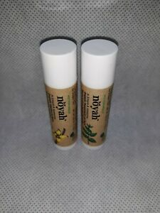 NEW-sealed-Lot-of-2-Noyah-Organic-Lip-Balms-Peppermint-amp-Vanilla-0-15-oz-each