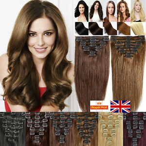 Real top quality clip in remy 100 human hair extensions full head image is loading real top quality clip in remy 100 human pmusecretfo Choice Image