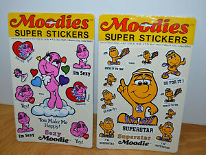 Vintage-MOODIES-SUPER-STICKERS-Lot-Sexy-Superstar-Sealed-New-1983