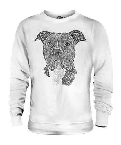 Staffordshire Bull Terrier Dibujo Unisex Suéter Regalo Ideal Perro Staffie
