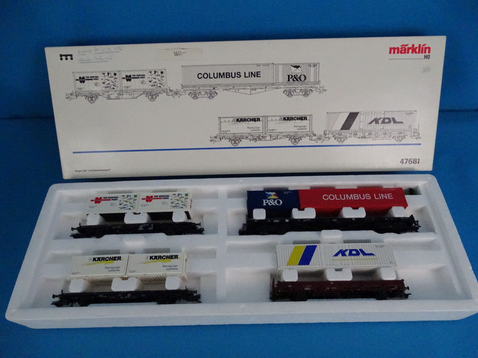 Marklin DB AG 47681 Container Car Set  Containertransport