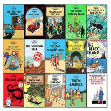 Adventures of Tintin 15 Books Collection Series 1 to 3 Set Blue Lotus,Broken Ear