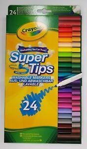 24-Crayola-Supertips-Bright-Washable-Lavable-Markers-Felt-Tips-Colour-pens-24pk