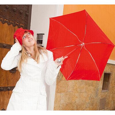 Ordinato Set Da Pioggia Mini Ombrello Pieghevole E Cappello Abbinato + Astuccio - At3188 Portare Più Convenienza Per Le Persone Nella Loro Vita Quotidiana