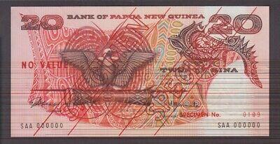 UNC  We Combine 20 Kina sig Tarata-Aopi Papua New Guinea banknote P10