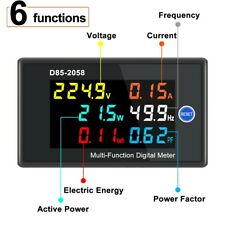 Energy Panel Meter Frequency Lcd Voltage Voltmeter 0 45000w 45 65hz Ac