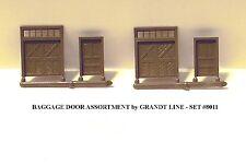 N Scale: BAGGAGE DOOR ASSORTMENT by GRANDT LINE #8011
