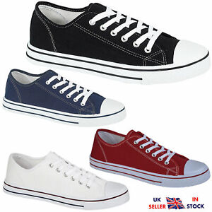 MENS-LACE-UP-TRAINERS-CASUAL-CANVAS-PLIMSOLLS-BOYS-FLAT-BASEBALL-PUMPS-SHOES-NEW