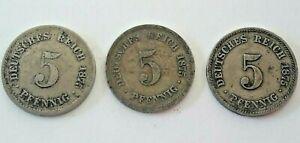 5-pfennig-KM-3-1874-lt-lt-gt-gt-gt-1889-DEUTSCHES-REICH-GERMANY-Kaiserreich