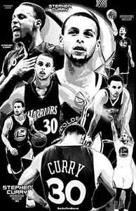 Image Is Loading STEPHEN CURRY 11x17 034 Black Light Poster