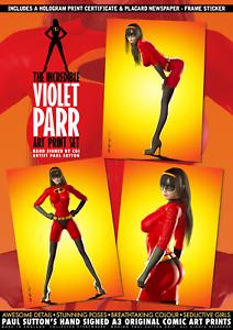 Violet-Parr-Incredible-SEXY-A3-Signed-Comic-Print-Set-Incredibles-Pixar-Disney