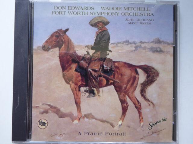 DON EDWARDS, WADDIE MITCHELL, SYMPHONY ORCHESTRA * A Praire Portrait * VG++ (CD)
