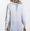 Beautiful-JOHNNY-WAS-Floral-Embroidered-BLUE-MOON-Button-Neck-Tunic-S-228 thumbnail 3