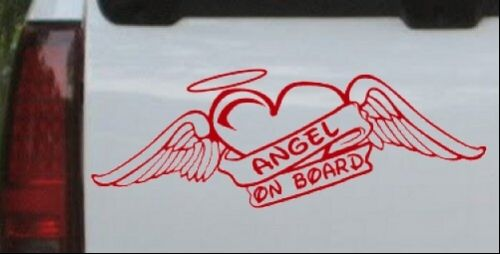 Angel On Board With Wings And Halo Car or Truck Window Laptop Decal Sticker