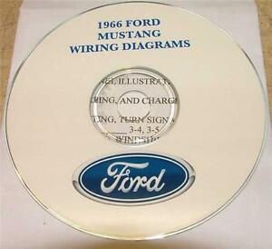 1966    FORD    MUSTANG    WIRING    DIAGRAM    MANUAL ON CD   eBay