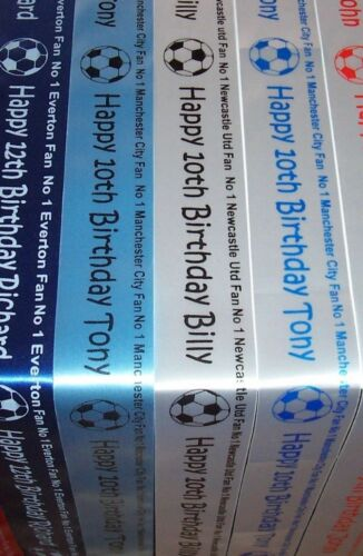 No 1 Football Fan Cake or Gift Wrap Ribbon. Liverpool Everton Southampton Derby
