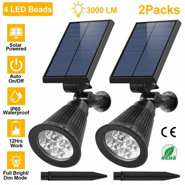Avaspot【Upgraded Version】Solar Powered Secur 2 Pack 30 LED Solar Lights Outdoor