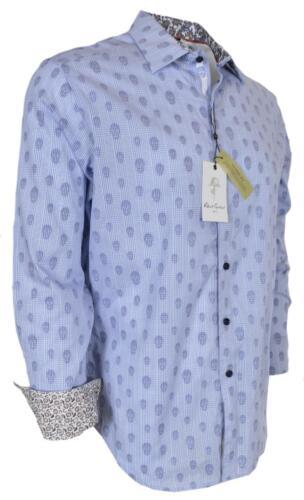 NEW Robert Graham $268 KINDERHOOK Skulls Blue Button Down Sports Dress Shirt