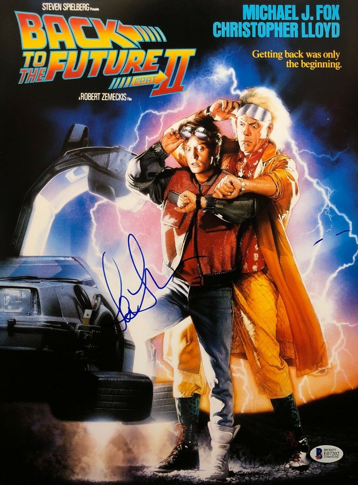 Lea Thompson Signed 'Back To The Future Part II (2)' 11x14 Photo Beckett BAS