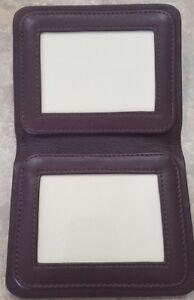 Leather-ID-Identification-Photo-Holder-Cowhide-Napa-Winn-9460-Travel-Brown