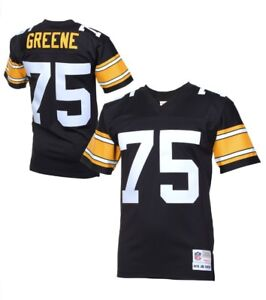 Hot Mitchell & Ness 1976 Joe Greene #75 NFL Pittsburgh Steelers Black  hot sale
